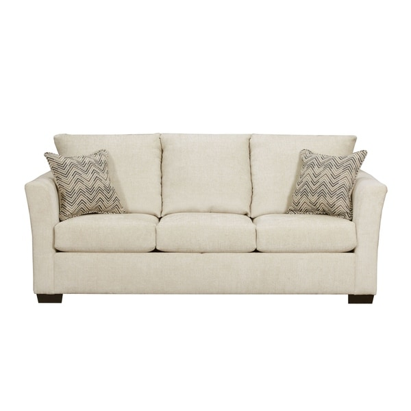 shop simmons upholstery elan queen sleeper sofa free shipping rh overstock com