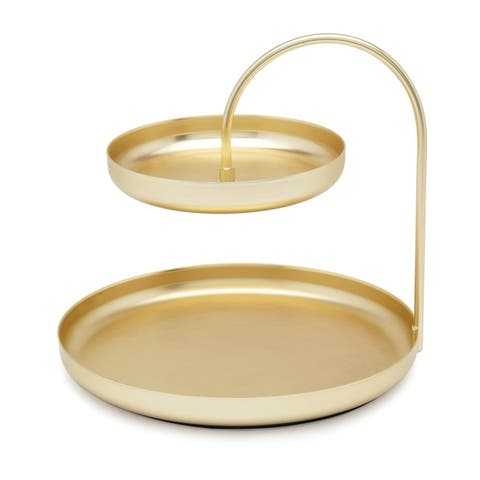 Umbra Poise Two Tiered Brass Accessory Organizer