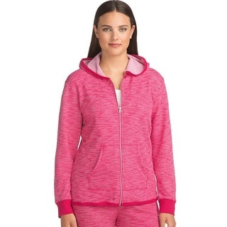 Hanes Womens French Terry High Low Zip Hoodie (4A03)
