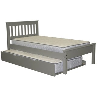 Bedz King Mission Style Grey Brazilian Pine Twin Trundle Bed