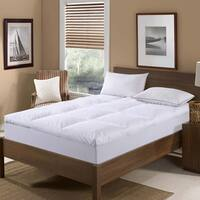 St. James Home 233 Thread Count Cotton Nano Feather Bed - White