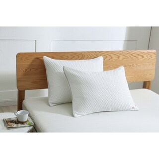 St. James Home Cooling Knit Pillow - White