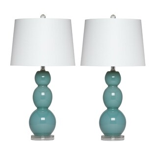 Virtue Home Bellacina 27 inch Glass Table Lamp Set of 2