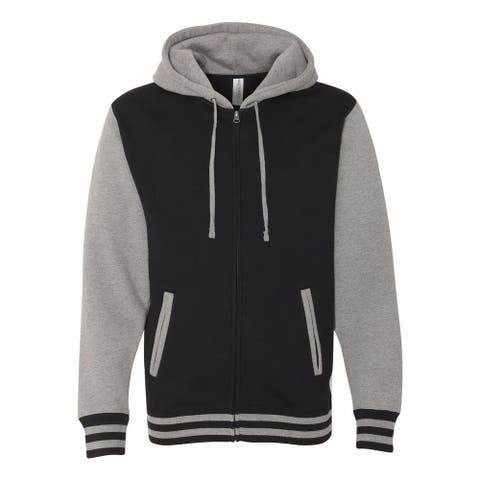 Independent Trading Co. mens Varsity Full-Zip Hooded Sweatshirt (IND45UVZ)