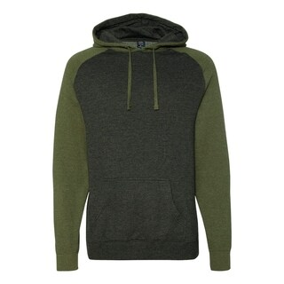 Independent Trading Co. mens Raglan Hooded Pullover (IND40RP)