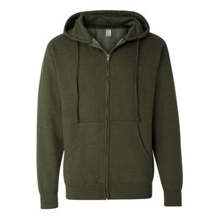 Independent Trading Co. mens Midweight Full-Zip Hooded Sweatshirt (SS4500Z)