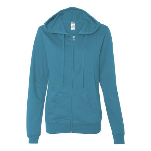 Independent Trading Co. womens Lightweight Full-Zip Hooded Sweatshirt (SS650Z)
