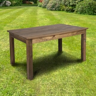 "60"" x 38"" Rectangular Solid Pine Farm Dining Table - antique rustic"