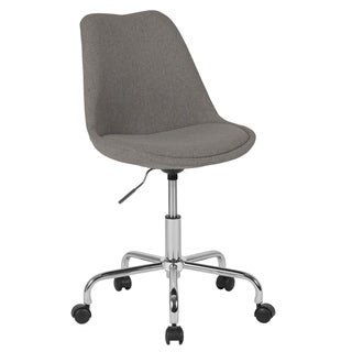 Aurora Series Mid-Back Fabric Task Chair with Pneumatic Lift and Chrome Base