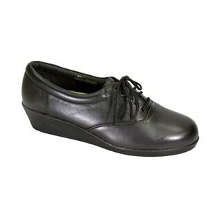 24 HOUR COMFORT Helga Women Extra Wide Width Lace Up Comfort Shoes
