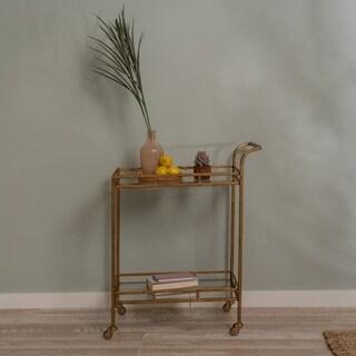 Aaron Gold Bar Cart- Cooper Classics