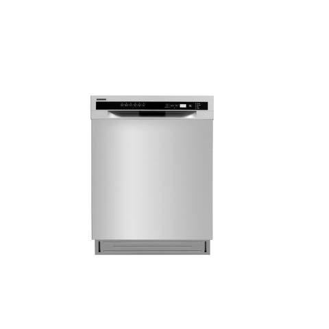 """Lycan - 24"""" Built-In Front Control Dishwasher in Stainless Steel, 52 dBA"""