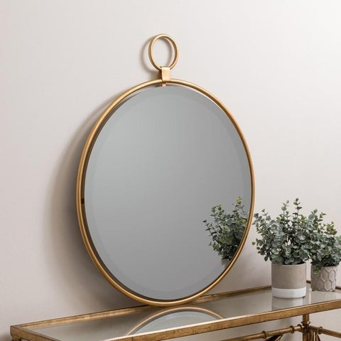 """Lily Gold 25.5"""" x 30.5"""" Oversized Wall Mirror-Cooper Classics - N/A"""
