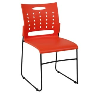 881 lb. Capacity Sled Base Stack Chair with Carry Handle & Air-Vent Back