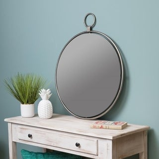 "Lily Gray 25.5"" x 30.5"" Oversized Wall Mirror - Grey/Silver - N/A"