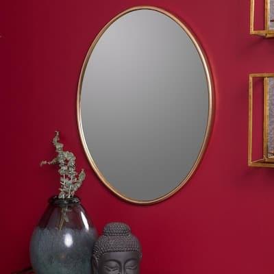 "Dena 28"" x 22"" Oversized Gold Wall Mirror-Cooper Classics - Antique Gold"