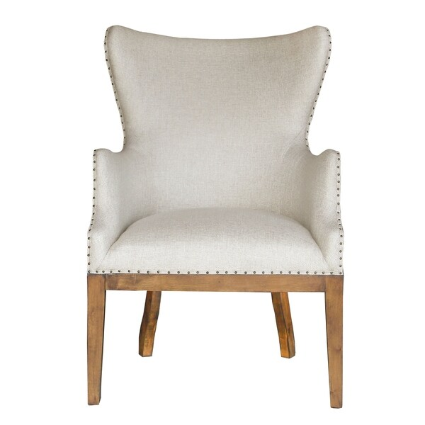 Shop White Fabric Curved-back Armchair - Free Shipping ...