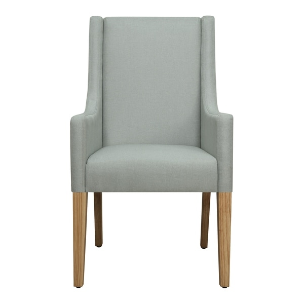 Shop Seafoam Fabric Upholstered Arm Chair Free Shipping