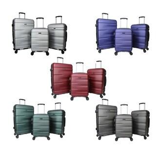 World Traveler 3-Piece Hardside Lightweight Expandable Spinner Luggage Set