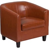 Rancho Modern Cognac Leather Side/Guest Chair