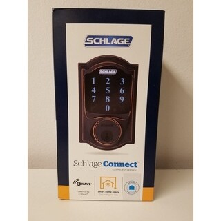SCHLAGE Connect Deadbolt Aged Bronze Finish - N/A