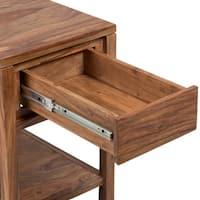 Wanderloot Urban Mid-Century Modern Sheesham Wood Handmade End Table with Drawer