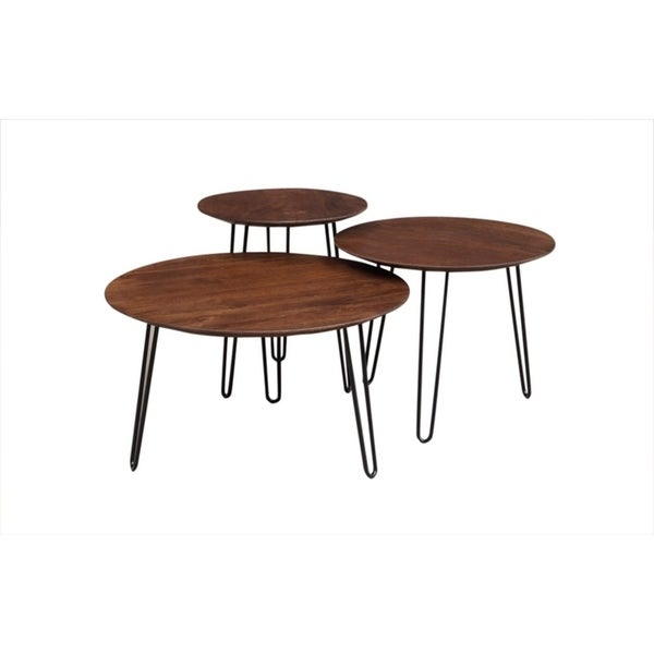 Genial Shop Wanderloot Graphik Contemporary Chestnut Round Handmade 3 Piece Coffee  Table Set   Free Shipping Today   Overstock.com   22530164