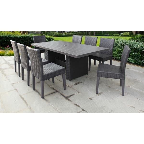 Barbados Rectangular Outdoor Patio Dining Table With 8