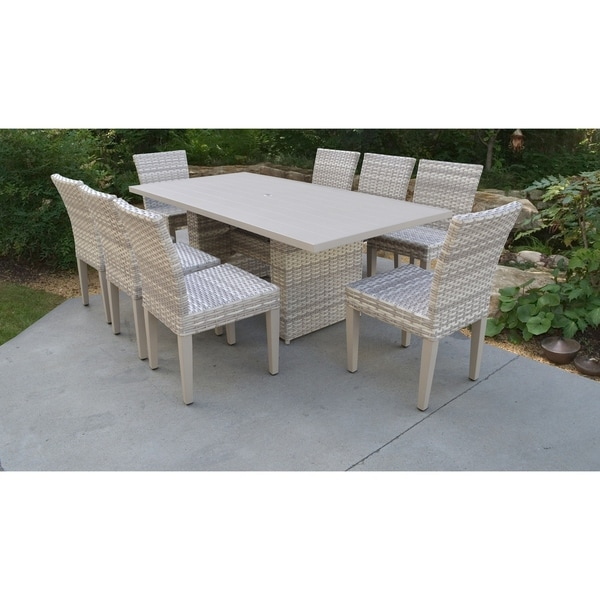 8 Chair Square Dining Table: Shop Fairmont Rectangular Outdoor Patio Dining Table With 8 Armless Chairs