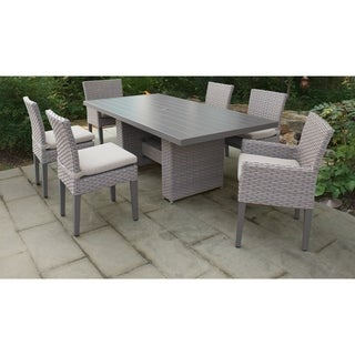 Monterey Rectangular Outdoor Patio Dining Table with 4 Armless Chairs and 2 Chairs w/ Arms
