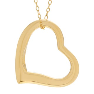 Sterling Silver Cut-out Heart Pendant Necklace (3 options available)