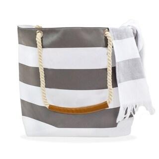 Stripe Beach Towel & Tote Bag Set
