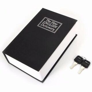 Cute Simulation English Dictionary Style Mini Safety Storage Box Blue