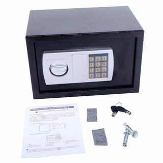 Electronic Digital Lock Keypad Safe Box Cash Jewelry Gun Safe (Battery Not Include