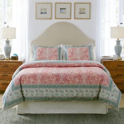 Pointehaven Casablanca Textured Print Luxury sized 3 pc Comforter Set