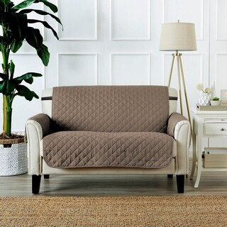 """PrimeBeau Reversible Quilted Spills-Preventing Love Seat Slipcover W75"""" x L90"""""""