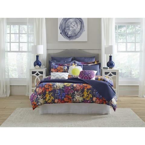 Pointehaven Marseille Digital Print Luxury sized 3 pc Comforter Set