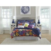 Pointehaven Marseille Digital Print Luxury sized 3 pc Comforter Set
