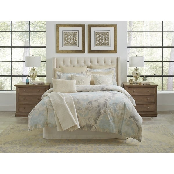 Pointehaven Riviera Digital Print Embroidered Duvet Set