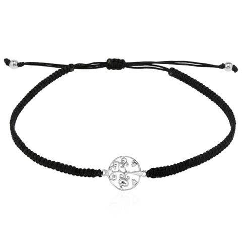 Handmade Two Hearts Circle Tree of Life Adustable Bracelet (Thailand)