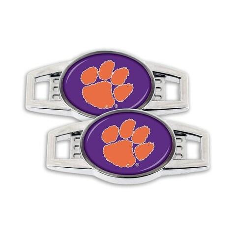 Aminco NCAA Clemson Tigers Sports Team Logo Shoe Charm - Set of 2