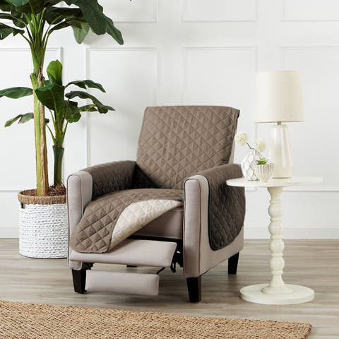 """PrimeBeau Reversible Quilted Spills-Preventing Recliner Slipcover W79"""" x L68"""""""