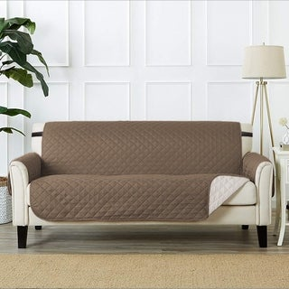 """PrimeBeau Quilted Spills-Preventing Sofa Size Slipcover W75"""" x L110"""""""