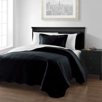 French Impression Taddor Oversized Reversible 3pc Quilt Set
