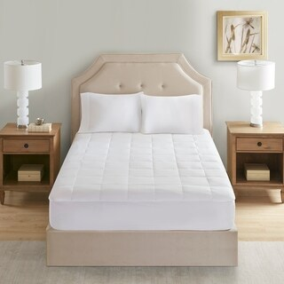 Sleep Philosophy 300 Thread Count White Tencel Filled Mattress Pad Antimicrobial BI-OME Odor Eliminator