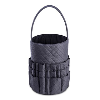 DeNOA Quilted Knitting and Sewing Storage Bag - Yarn and Needle Accessory Bucket Craft and Hobby
