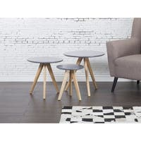 Vegas Grey Round Coffee Table Set