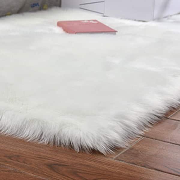 Soft Rectangle Faux Sheepskin Rug Sofa