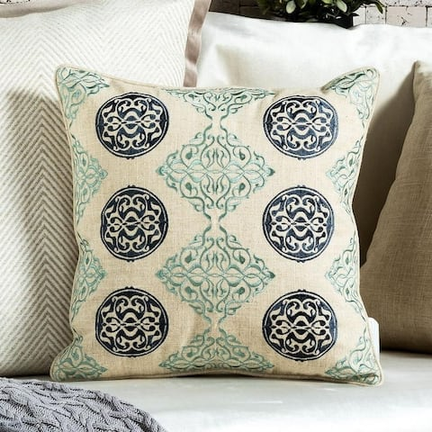 Embroidery Line Medallion Decorative Throw Pillow