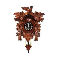 "Alexander Taron Engstler Mini Size Battery Operated Clock with Music and Chimes - 7.5""H x 6.5""W x 2.75""D"